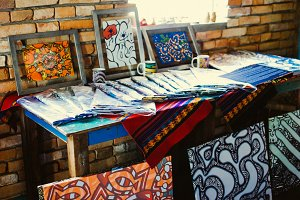 street painting market