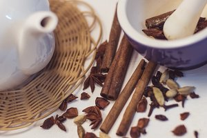 tea masala and spices