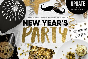 New Year's  party set