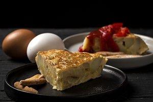 Spanish typical potato omelet