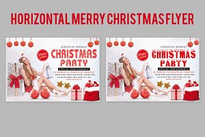 Horizontal Merry Christmas Flyer