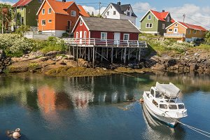 Fishing village Henningsvaer in Lofoten islands, Norway
