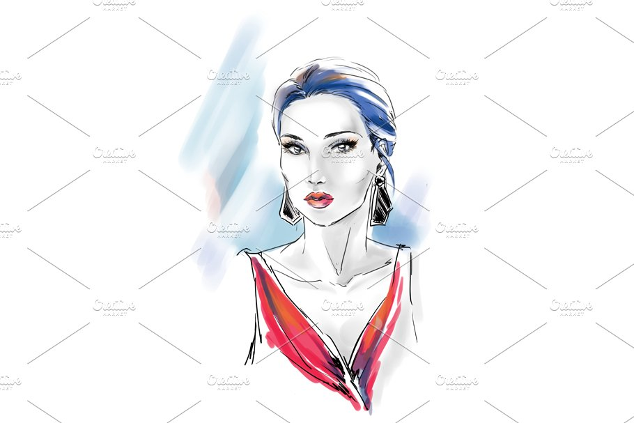 Fashion illustration in Illustrations - product preview 1