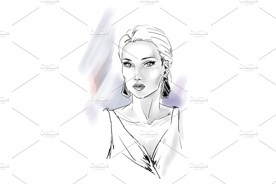 Fashion illustration in Illustrations - product preview 2
