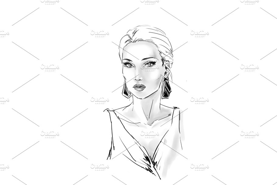 Fashion illustration in Illustrations - product preview 3