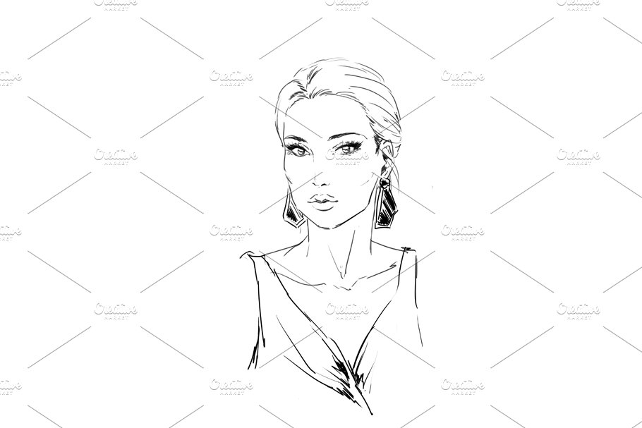 Fashion illustration in Illustrations - product preview 4
