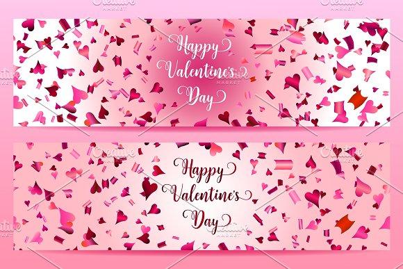 Happy Valentine's day banners.