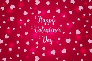 Happy Valentine's day illustration.