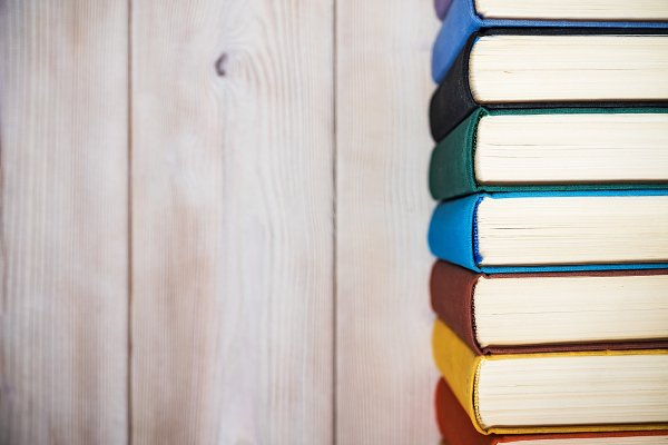 Education Stock Photos: photoWorkshop - Books standing on the table