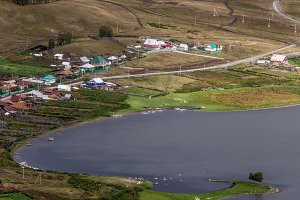 The village in the steppes of the southern Urals. Bashkortostan