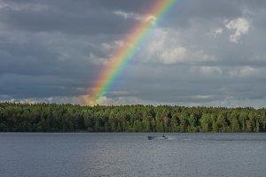 Rainbow on Lake Onega