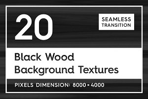 20 Black Wood Background Textures