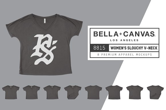 Download Bella Canvas 8815 Women's Slouchy V