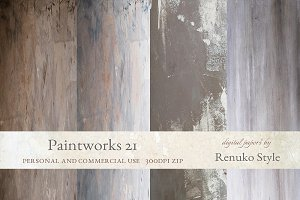 Paintworks 21 Photoshop Backgrounds