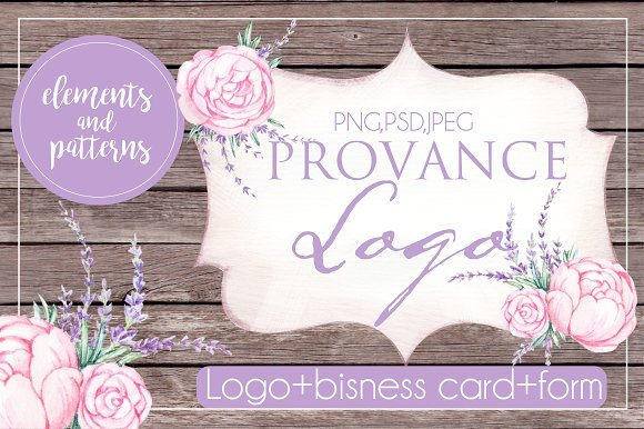 PROVANCE  watercolor logo in Illustrations