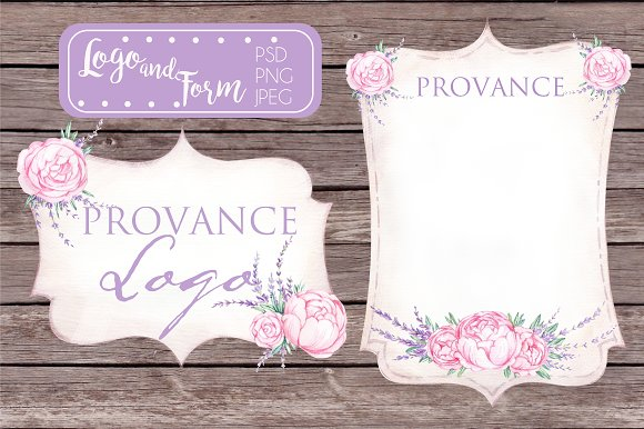 PROVANCE  watercolor logo in Illustrations - product preview 1