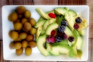 Avocados, olives and berries