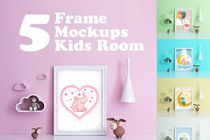 Kids Room Frame Mockups