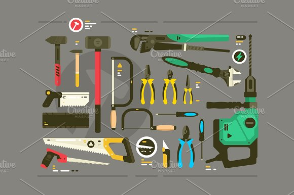 Set of tools for construction