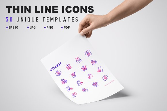 Giveaway Icons Set | Concept in Graphics - product preview 8