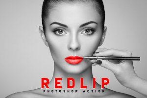 RedLip Photoshop Action