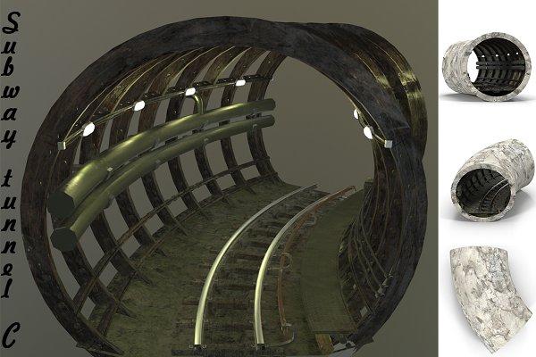 3D Urban - Subway tunnel C