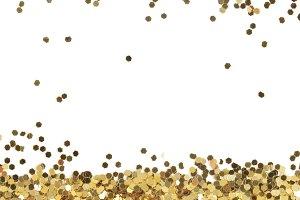 Gold glitter dot texture