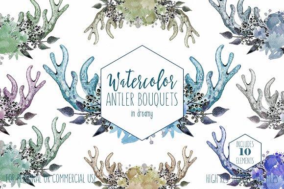 Boho Chic Deer Antler Bouquets
