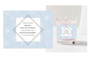 Love Quote Candle Label Template