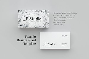 _F.Studio. Business Card Template