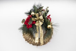 Holiday Wreath & Ornaments