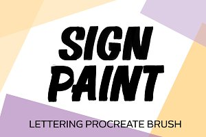 Sign Painter Procreate Brush