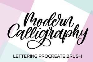 Modern Calligraphy Procreate Brush