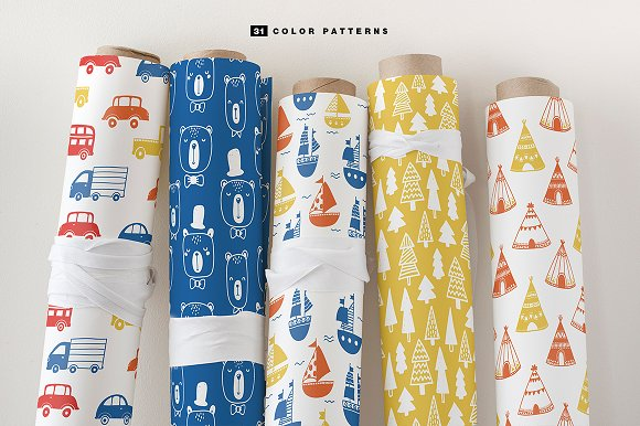51 kids patterns, for boys & girls! in Patterns - product preview 5