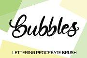 Bubble 3D Procreate Brush