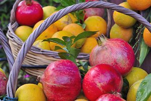 oranges and pomegranates