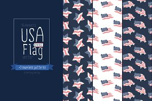 USA flag/American flag/Patterns