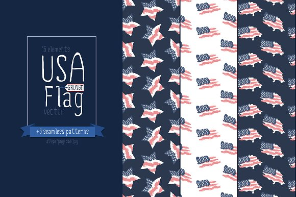 USA flag/American flag/Patterns in Objects