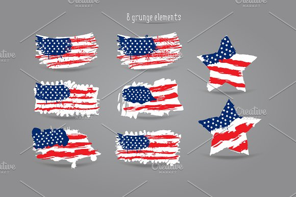 USA flag/American flag/Patterns in Objects - product preview 1