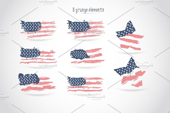 USA flag/American flag/Patterns in Objects - product preview 2