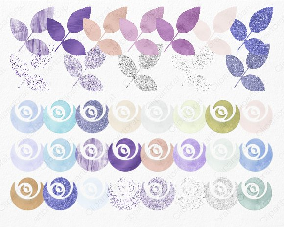 Chic Watercolor Rose Floral in Illustrations - product preview 2