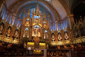 Ornate Church Alter & its Custodian
