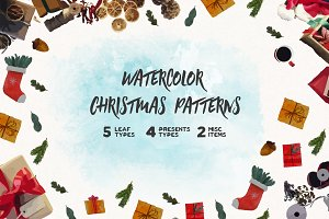 Watercolor Christmas Pattern