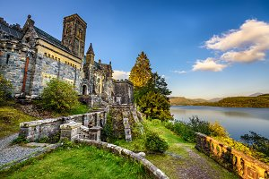 St Conans Kirk located in Loch Awe,  Scotland