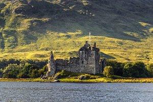Ruin of Kilchurn Castle  in Scotland