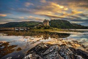 Sunset over Eilean Donan Castle