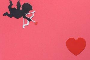Flat lay Valentine 's Day background