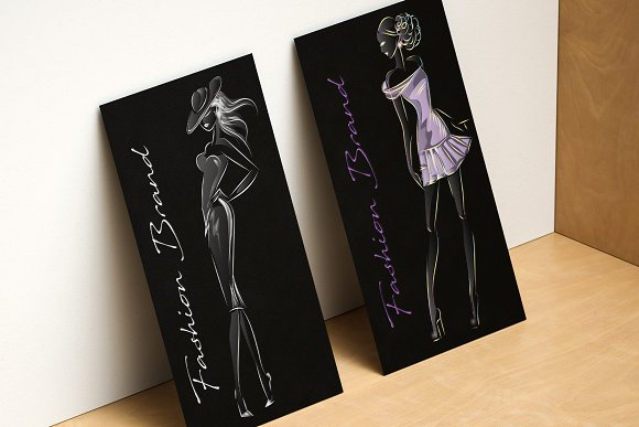 Fashion silhouettes for logo & brand in Illustrations - product preview 10