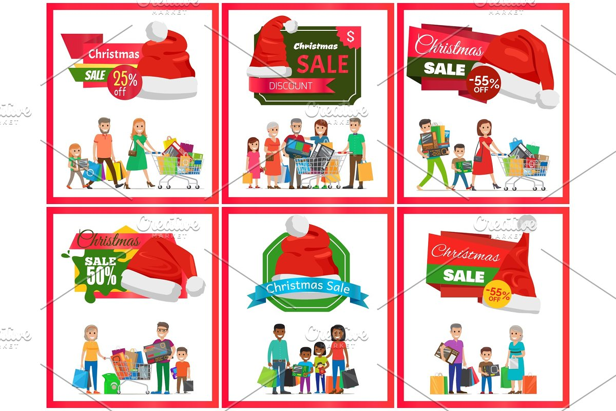 Set of Christmas Sale Premium Quality Banners