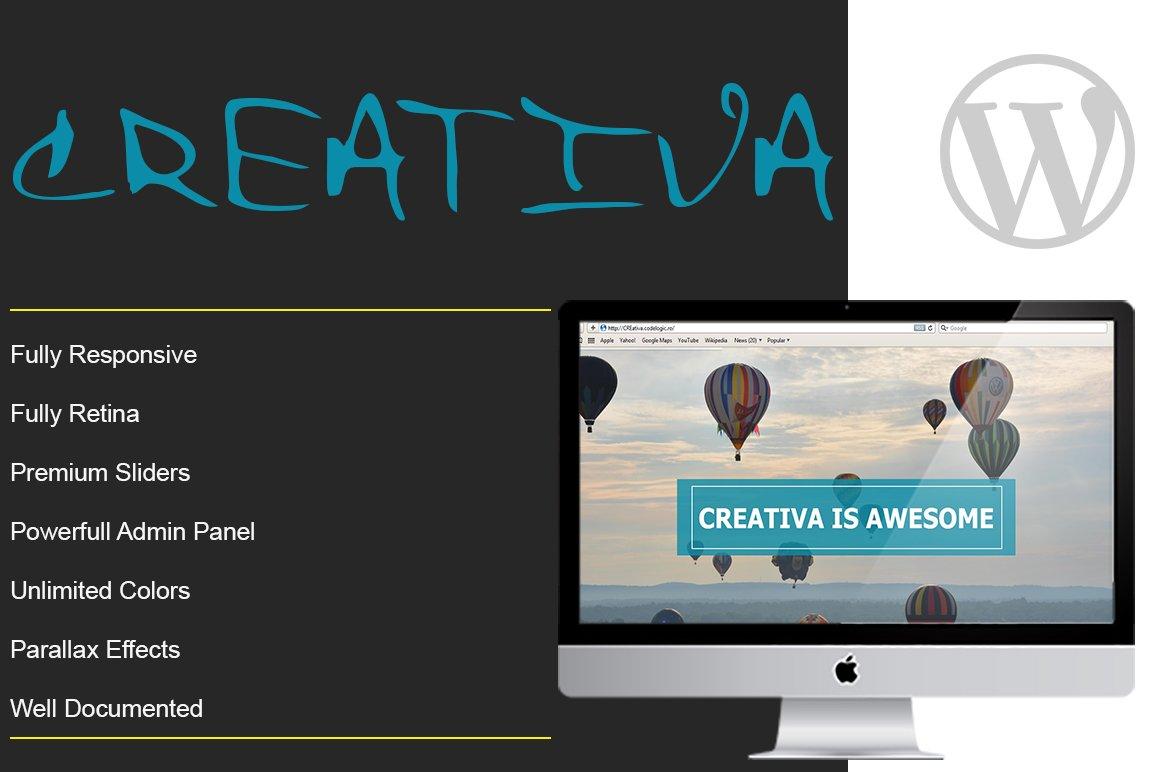 creativa one page parallax theme wordpress minimal themes